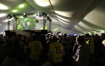 VIP Zelt Dortmund gegen München