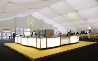 VIP-Zelt zum Revierderby